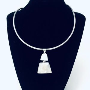 Jewelry - White Mother of Pearl Sterling Silver Pendant